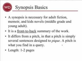 Synopsis by Chuck Sambuchino, Writers Digest