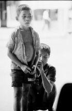 Leading a blind beggar