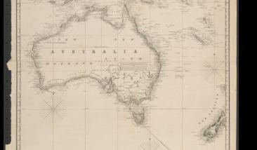 Australia-Borneo map